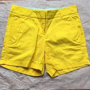 J. Crew Chino Broken-In yellow shorts